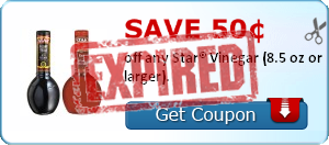 Save 50&#162; off any Star&#174; Vinegar (8.5 oz or larger).
