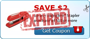 Rare $2 Off Swingline Staplers Purchase of $10 or More Coupon (Great for Back to School!)