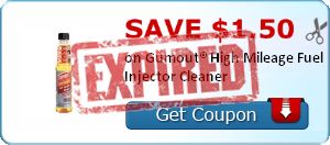 Save $1.50 on Gumout® High Mileage Fuel Injector Cleaner