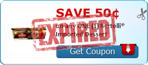 Save 50¢ on any ONE (1) Bertolli® Imported Dessert