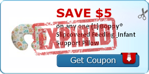 Save $5.00 on any one (1) Boppy® Slipcovered Feeding & Infant Support Pillow