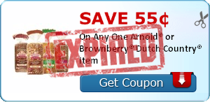 Save 55¢ On Any One Arnold® or Brownberry® Dutch Country® Item