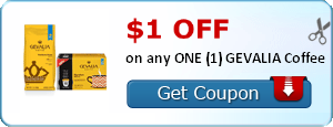 $1.00 off any ONE (1) GEVALIA Coffee