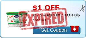 $1.00 off any one Marzetti Veggie Dip product