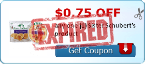 $0.75 off any one (1) Sister Schubert's product
