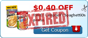 $0.40 off THREE Campbell's SpaghettiOs pastas