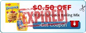$0.50 off Original Bisquick Baking Mix