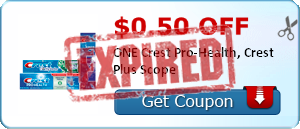 $0.50 off ONE Crest Pro-Health, Crest Plus Scope
