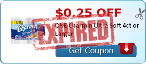 $0.25 off ONE Charmin Ultra Soft 4ct or Larger