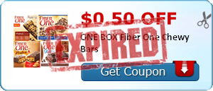 $0.50 off ONE BOX Fiber One Chewy Bars