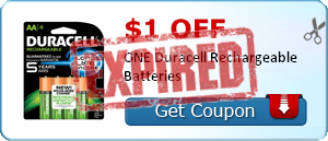 $1.00 off ONE Duracell Rechargeable Batteries