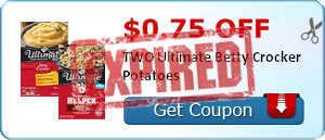 $0.75 off TWO Ultimate Betty Crocker Potatoes