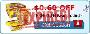 $0.60 off THREE Old El Paso products