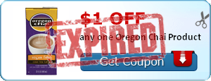 $1.00 off any one Oregon Chai Product