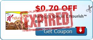 $0.70 off Kellogg's Special K Nourish™ Bars