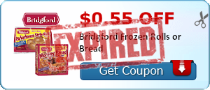 $0.55 off Bridgford Frozen Rolls or Bread