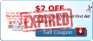 $2.00 off 2 J&J RED CROSS Brand First Aid products