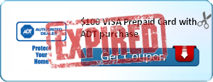 $100 VISA Prepaid Card with ADT purchase