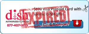$100 Visa Prepaid Card with special DISH offer
