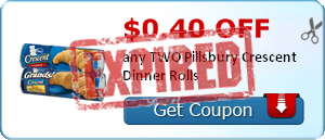 $0.40 off any TWO Pillsbury Crescent Dinner Rolls