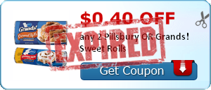 $0.40 off any 2 Pillsbury OR Grands! Sweet Rolls