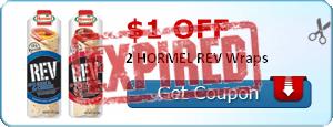 $1.00 off 2 HORMEL REV Wraps