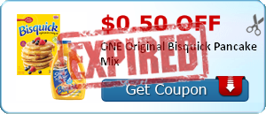 $0.50 off ONE Original Bisquick Pancake Mix