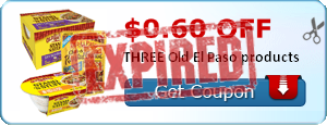 $0.60 off THREE Old El Paso products