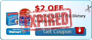 $2.00 off any ONE (1) LACTAID Dietary Supplement