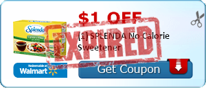 $1.00 off (1) SPLENDA No Calorie Sweetener