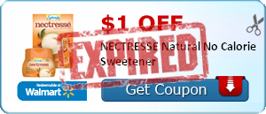 $1.00 off NECTRESSE Natural No Calorie Sweetener
