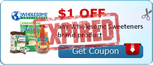 $1.00 off any Wholesome Sweeteners brand product