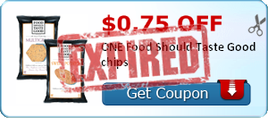 $0.75 off ONE Food Should Taste Good chips