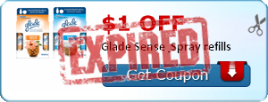 $1.00 off Glade Sense & Spray refills