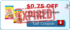 $0.75 off Fiber One Protein Maple Brown Sugar