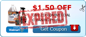 $1.50 off ONE ZEP COMMERCIAL CLEANING Product