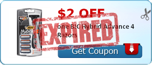 $2.00 off one BIC Hybrid Advance 4 Razors
