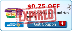 $0.75 off LAND O LAKES Garlic and Herb Butter