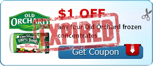 $1.00 off any four Old Orchard frozen concentrates