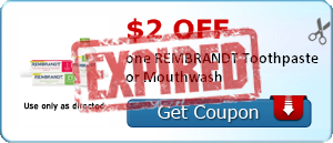 $2.00 off one REMBRANDT Toothpaste or Mouthwash
