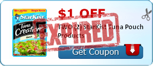 $1.00 off TWO (2) StarKist Tuna Pouch Products