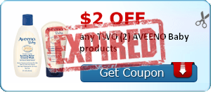 $2.00 off any TWO (2) AVEENO Baby products
