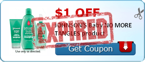 $1.00 off JOHNSON'S Baby NO MORE TANGLES product