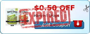 2 18120108 $1 Harvest Snaps Snacks at Walmart with Printable Coupon!