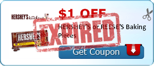 $1.00 off HERSHEY'S or REESE'S Baking Pieces