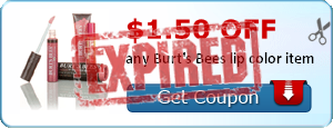 $1.50 off any Burt's Bees lip color item