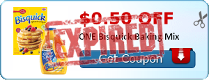 $0.50 off ONE Bisquick Baking Mix