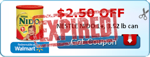 $2.50 off NESTLE NIDO 1+, 3.52 lb can