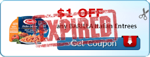 $1.00 off any BARILLA Italian Entrees