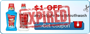 $1.00 off any Colgate Total Mouthwash